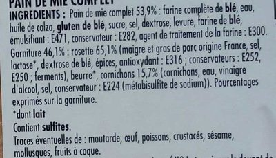 Mon Snack Rosette Cornichons Maxi - Ingrédients - fr