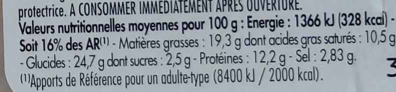 Mon Snack Rosette Cornichons Maxi - Informations nutritionnelles - fr