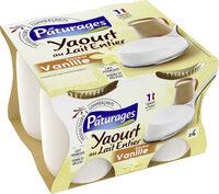 Yaourt au lait entier saveur vanille - Produit - fr