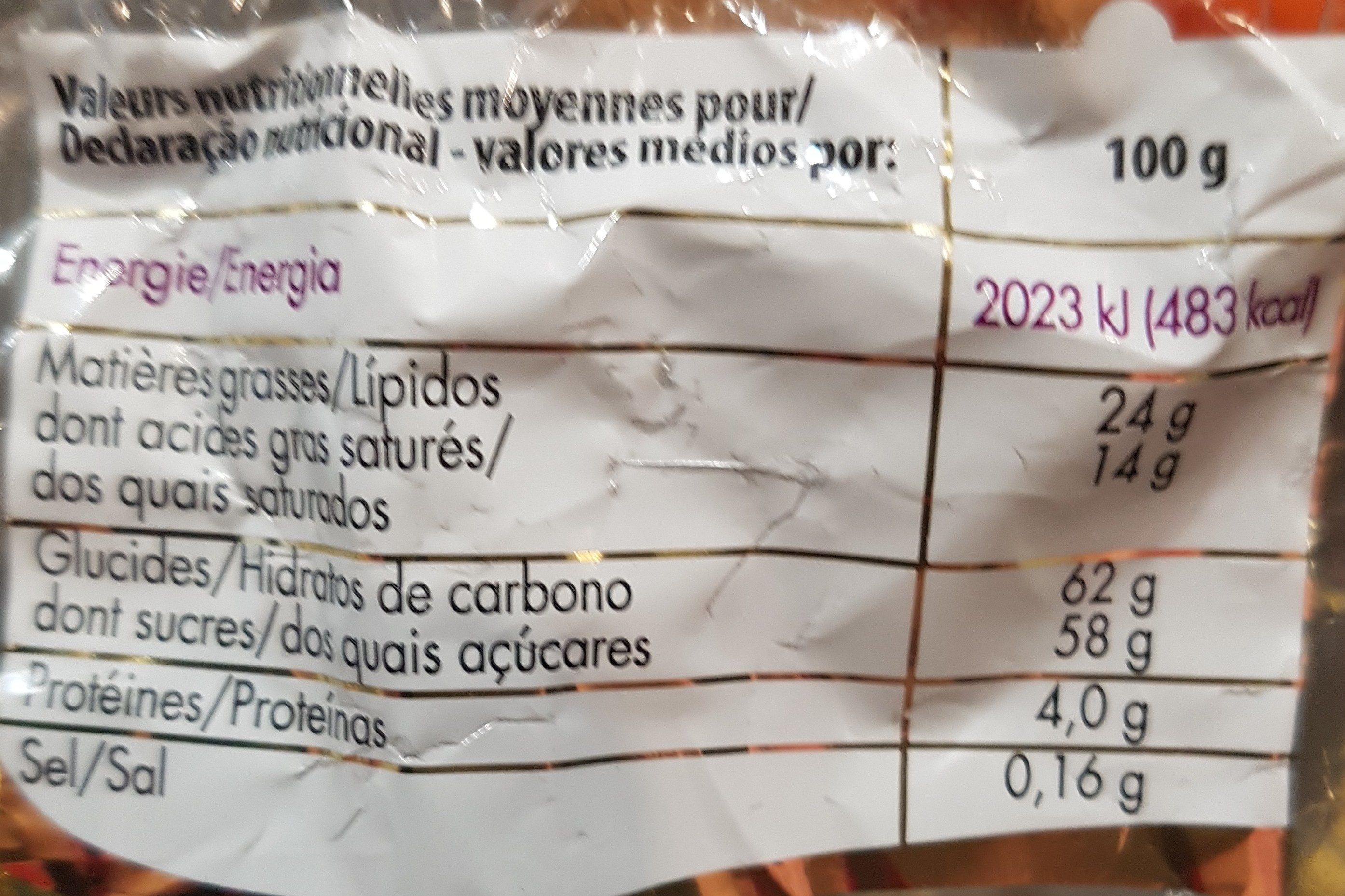 Papillotes Pétards - Ingredients
