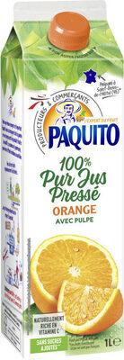 100 % Pur jus pressé orange avec pulpe - Product - fr