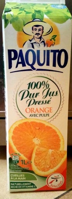 100 % Pur jus pressé orange avec pulpe - Product - fr