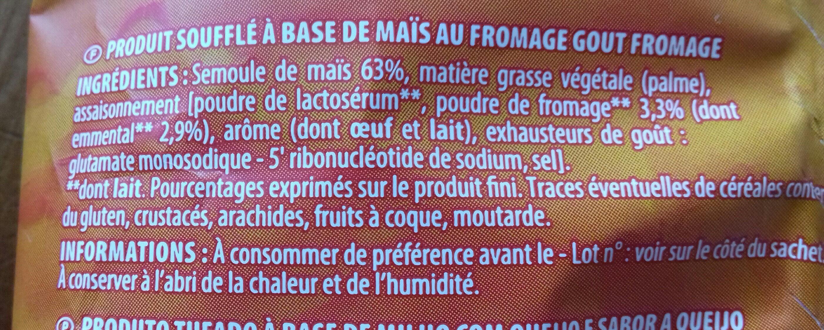 Craquilles au Fromage - Ingrédients - fr