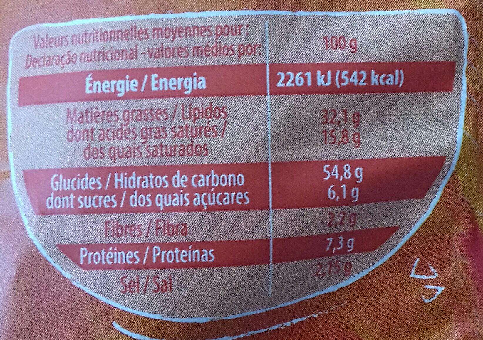Craquilles au Fromage - Informations nutritionnelles - fr