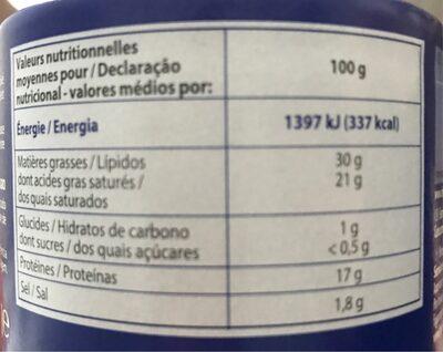 Fromage le bleu - Informação nutricional - fr