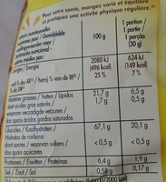 Tortilla chips nature - Informations nutritionnelles