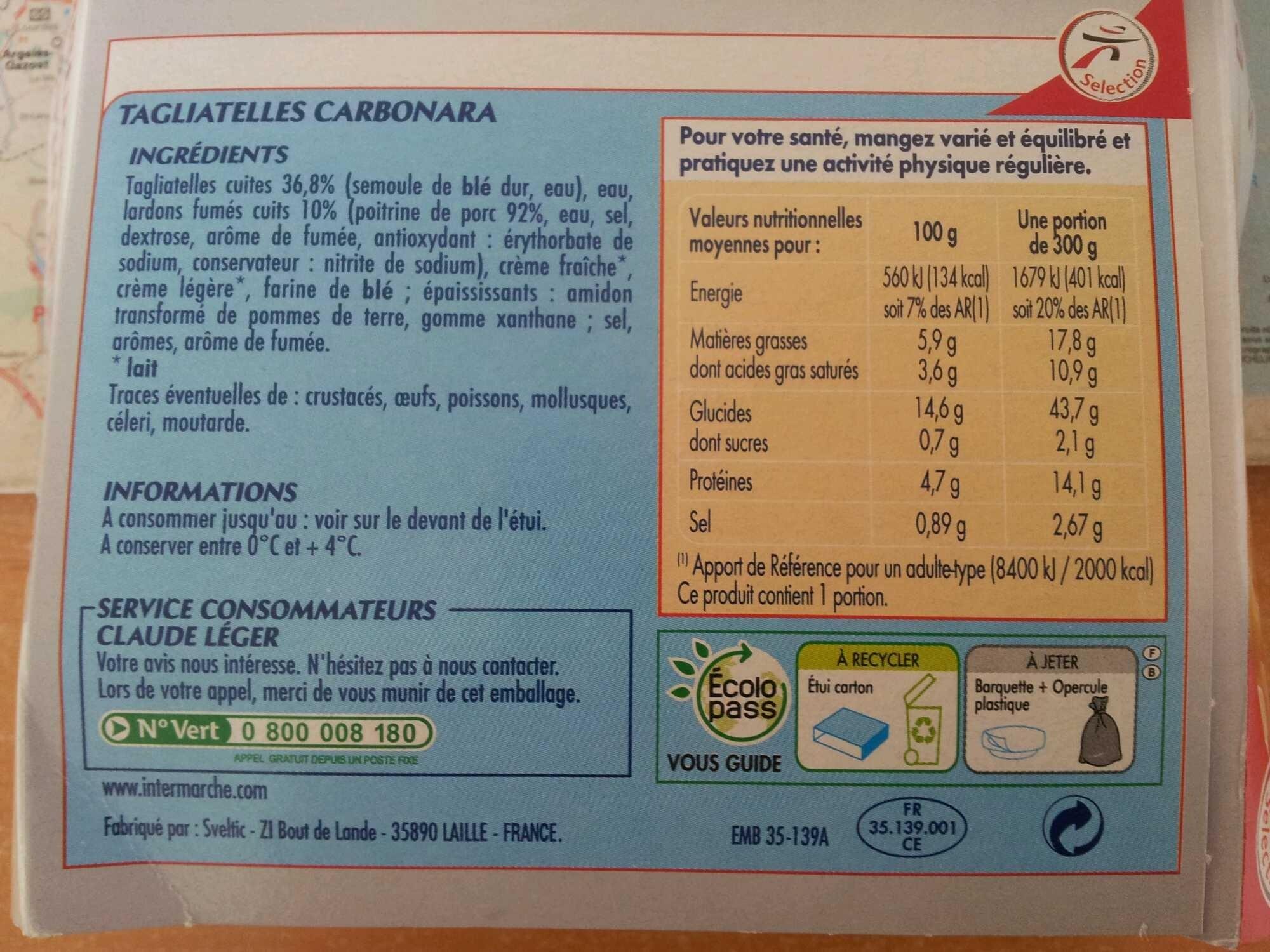 Tagliatelles Carbonara - Produit - fr