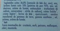 Tagliatelles Carbonara - Ingrédients - fr