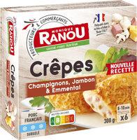 Crêpes champignons jambon & emmental - Produit - fr