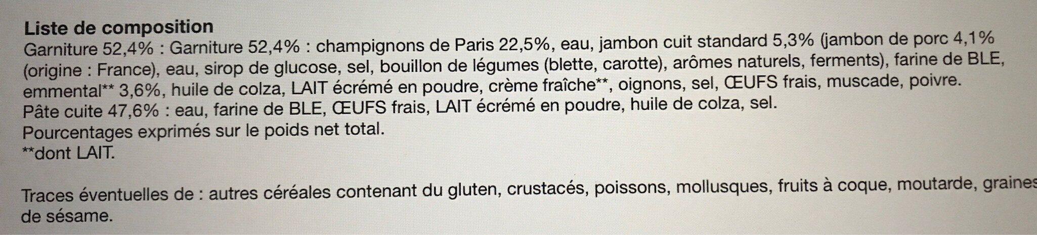 Crêpes champignons jambon & emmental - Ingrédients - fr