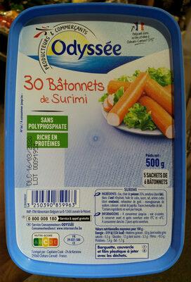 30 Bâtonnets de surimi - Produit
