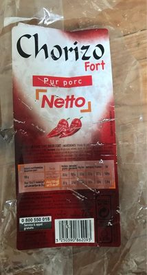 Chorizo Pur Porc (Fort) - Product - fr