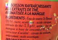 Look Iced Tea Mangue - Ingrédients - fr