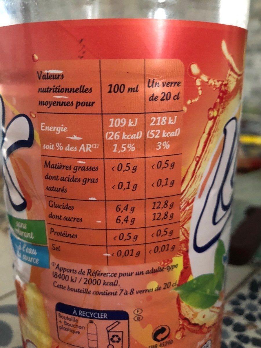 Look iced tea - Informations nutritionnelles - fr