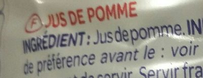 100% Pur jus Pomme - Ingredients