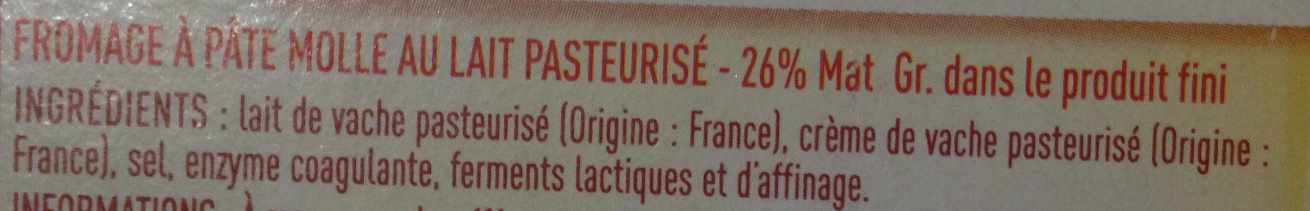 Brique - Ingrediënten - fr