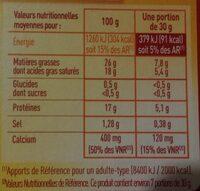 Brique - Voedingswaarden - fr