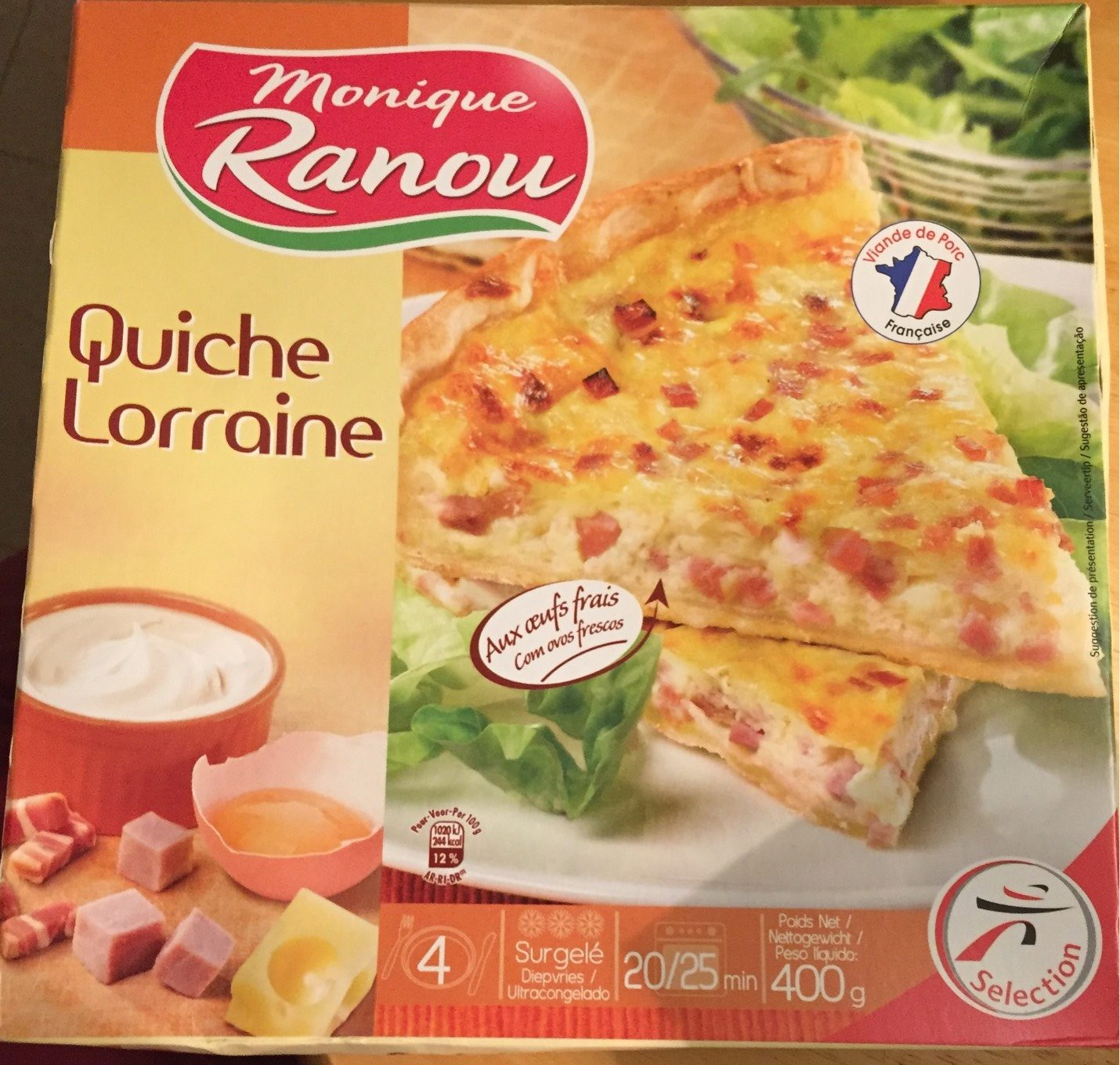 Quiche Lorraine - surgelé - Produit - fr