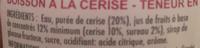 Paquito cerise - Ingredients