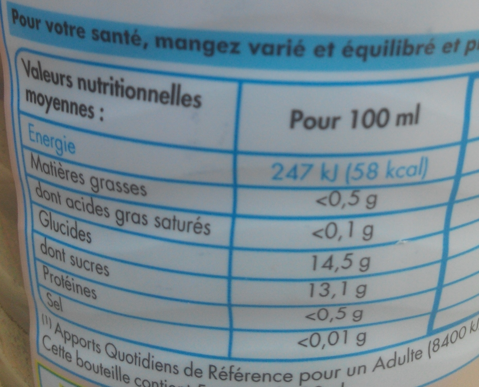 Paquito cerise - Nutrition facts