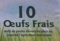 10 œufs frais - Ingrédients - fr