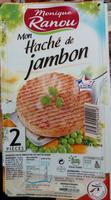 2 hachés de jambon - Produit - fr
