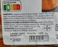 Tripes au cidre - Nutrition facts - fr
