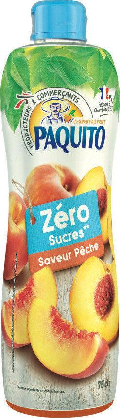 Boisson zéro sucres saveur pêche - Product - fr