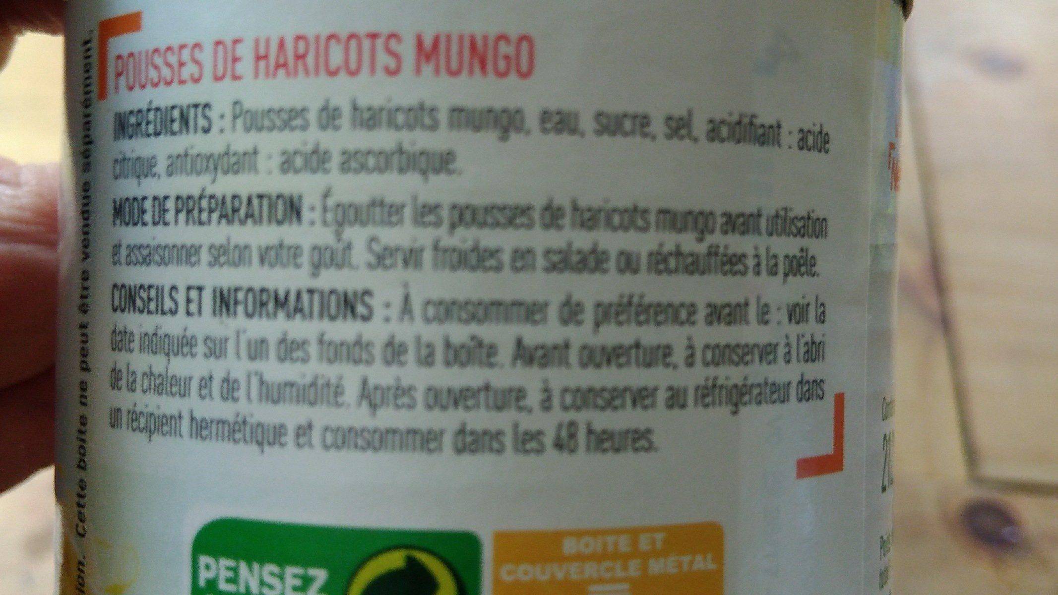 Pousses de haricots mungo - Ingrédients - fr