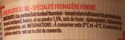 Cancoillotte à l'ail - Ingrediënten - fr