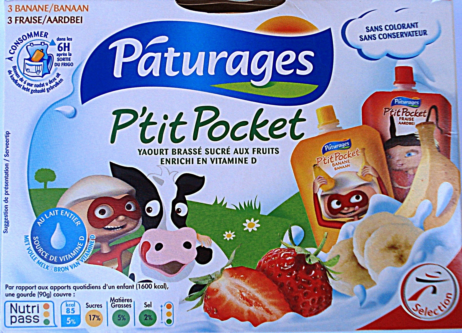 Pocket fraise, banane - Produit