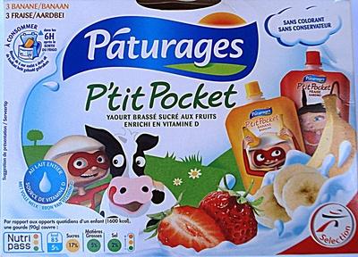 Pocket fraise, banane -