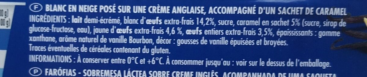 Ile flottante - Ingrédients - fr