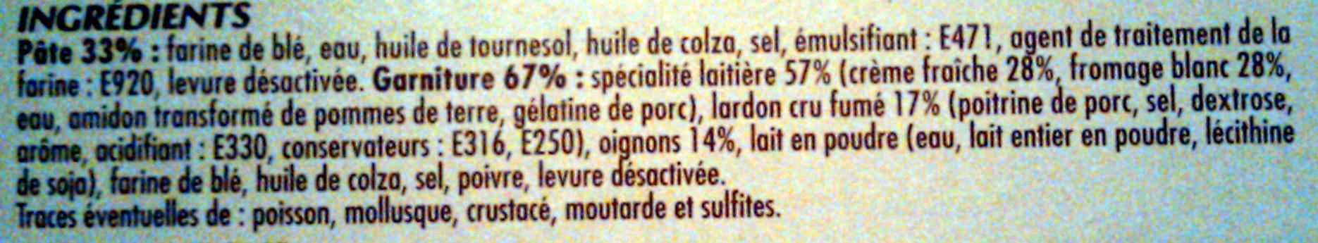 2 Flammekueche  lardon et oignons - Ingrédients - fr