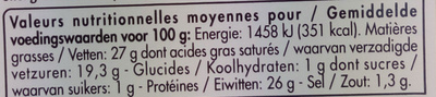 Maasdam (27 % MG) les Tranchettes - Voedingswaarden - fr