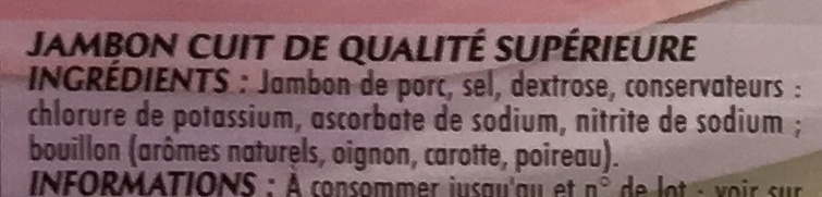 Mon Gourmand Supérieur (25% de sel en moins) - Ingrédients - fr