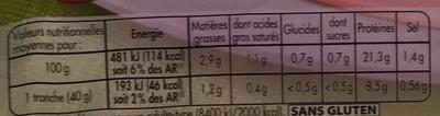 Mon Gourmand Supérieur (25% de sel en moins) - Informations nutritionnelles - fr