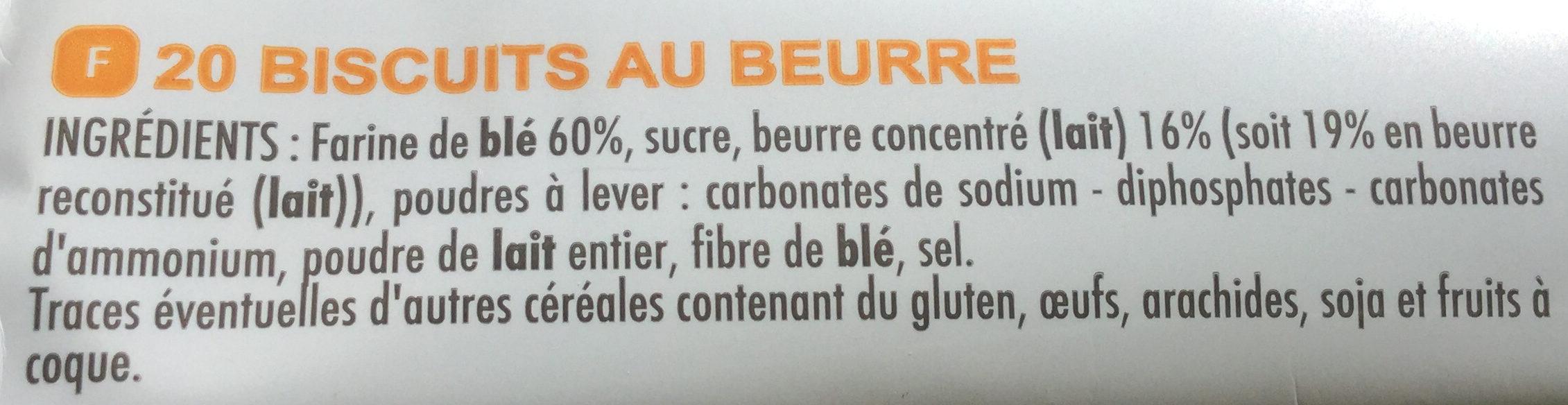 Beurrés Bretons Pur Beurre - Ingrédients - fr