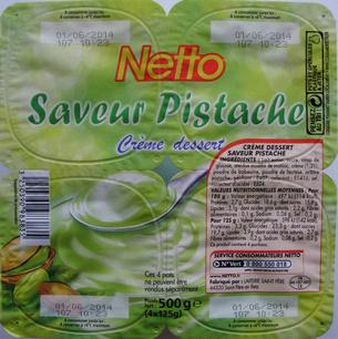 Crème Dessert Saveur Pistache - Produit - fr