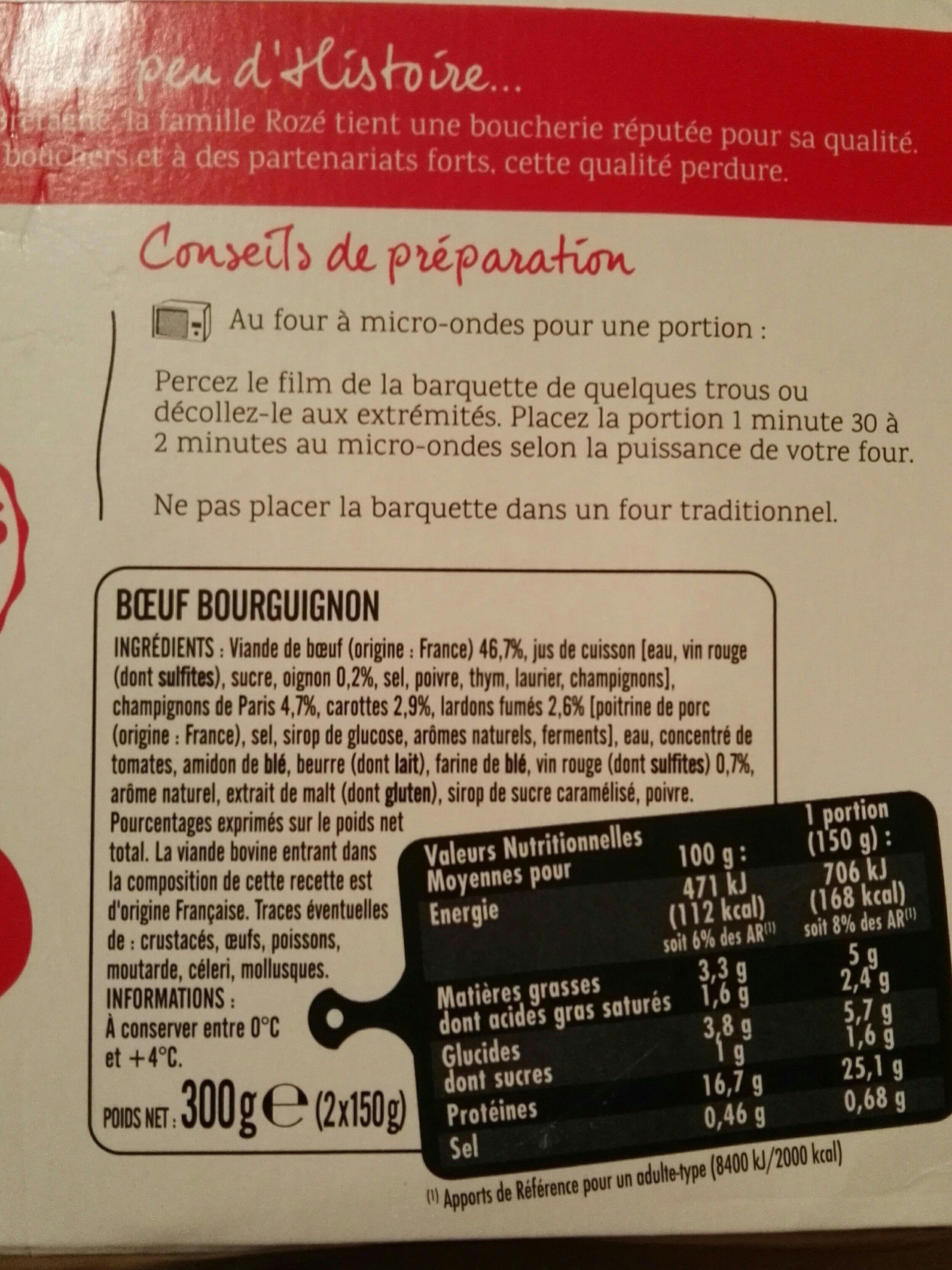 Boeuf Bourguignon - Ingrediënten - fr