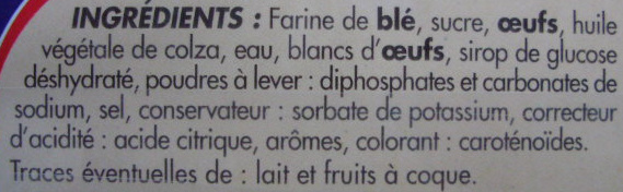 Barre Pâtissière - Ingrediënten - fr