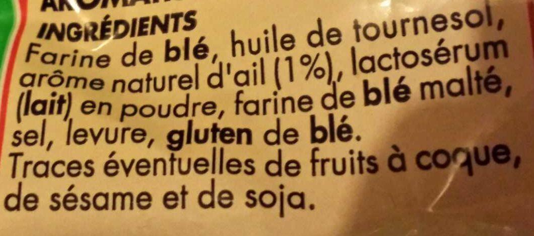 Croûtons goût Ail - Ingrédients - fr