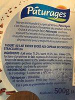 Yaourt et Crème Stracciatella - Ingrédients