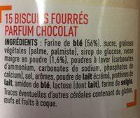 Trop Top Goûters Fourrés Parfum Chocolat - Ingredients