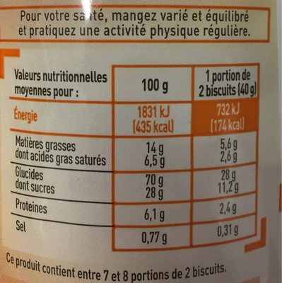 Trop Top Goûters Fourrés Parfum Chocolat - Nutrition facts