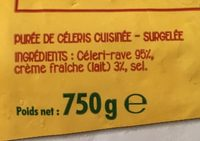 Purée de céléris - Ingrediënten