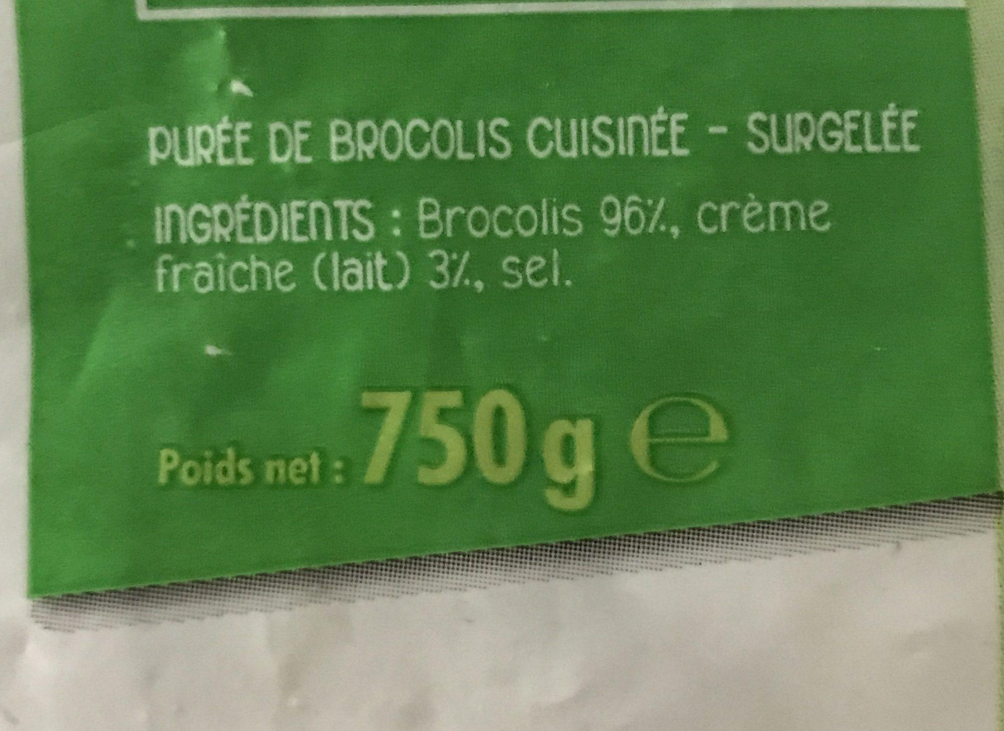 S.eloi Puree Broco Cuis - Ingrédients - fr