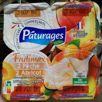 Frutimax 2 Pêche 2 Abricot avec morceaux de fruits - Prodotto - fr