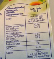 Fromage Blanc 0% - Nutrition facts - fr