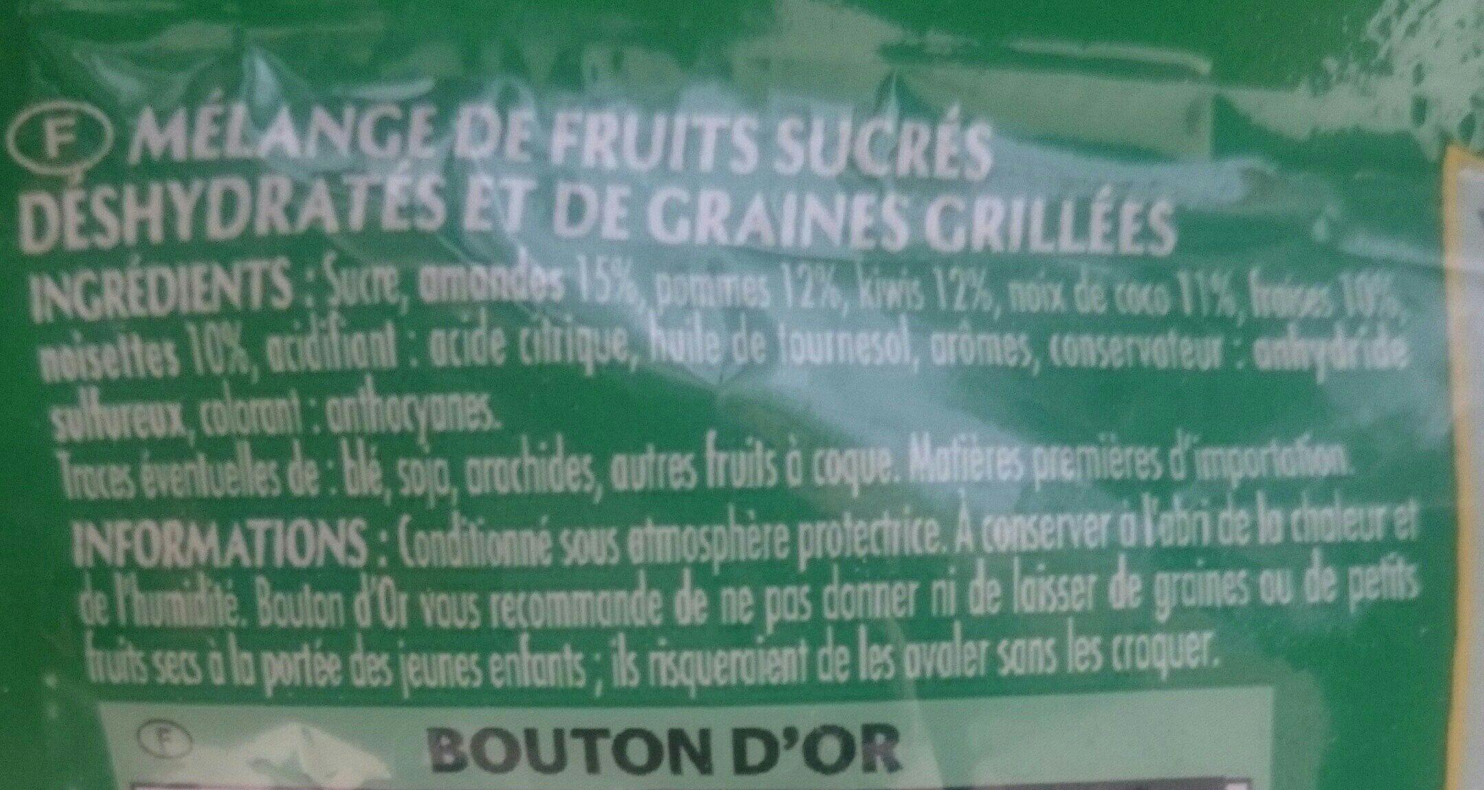 Mélange fruits & graines - Ingrediënten